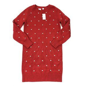 NWT Gap Kids Red Popcorn Knit Sweater Dress